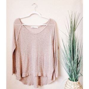 FP BEACH Pink Knit Long Sleeve Pullover Top sz xs